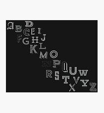 Alphabet Font Photographic Print
