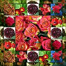 Shades of Red Floral Collage by BlueMoonRose