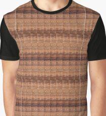 Brown Black Linear Geometric Design Graphic T-Shirt