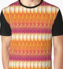 Yellow Red White Geometric Graphic T-Shirt