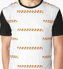 Orange Yellow Leaf Lines Graphic T-Shirt