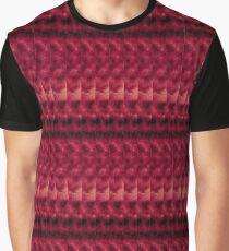 Red Black Linear Geometric Design Graphic T-Shirt