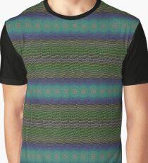Green Blue Linear Geometric Design Graphic T-Shirt