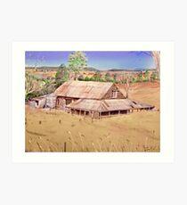 Hay shed Mia Mia. by Ian Shiel Art Print
