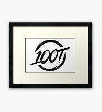 100 Thieves New White Framed Print