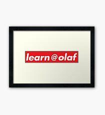 learn at olaf Framed Print