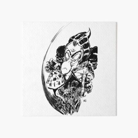Inktober 2016 Day 20 - Mushrooms Art Board Print