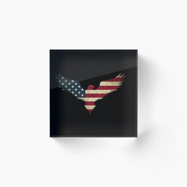 Weißkopfseeadler-Amerika Acrylblock