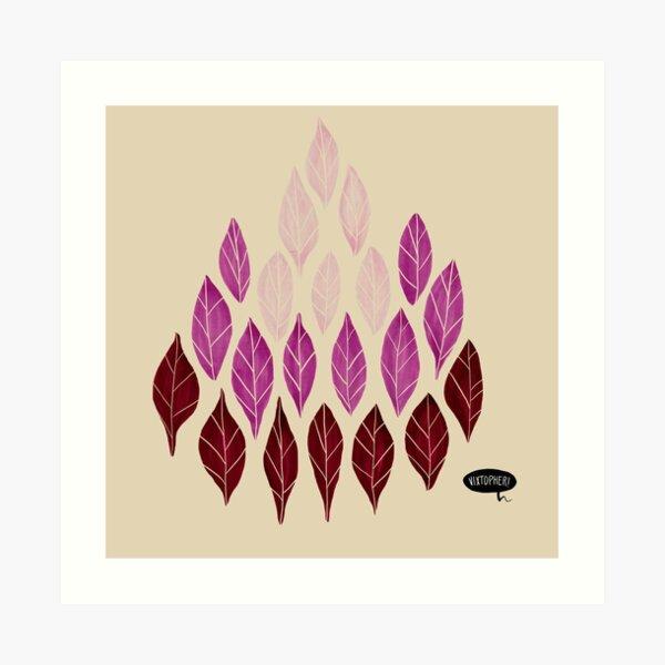 Pink Leaves by VIXTOPHER Art Print