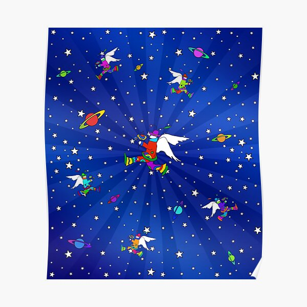 Angel Dudes Starry Night Poster