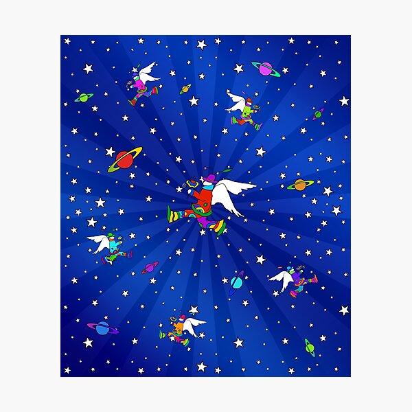 Angel Dudes Starry Night Photographic Print