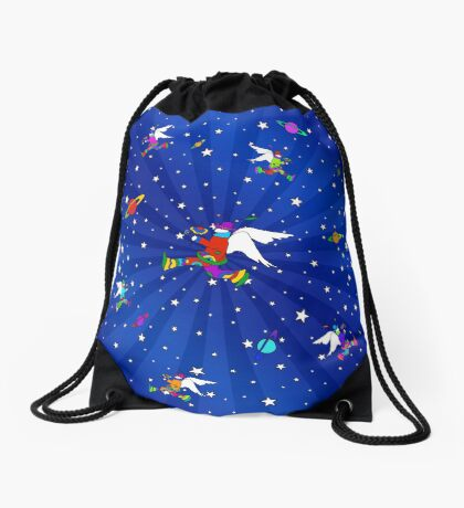 Angel Dudes Starry Night Drawstring Bag
