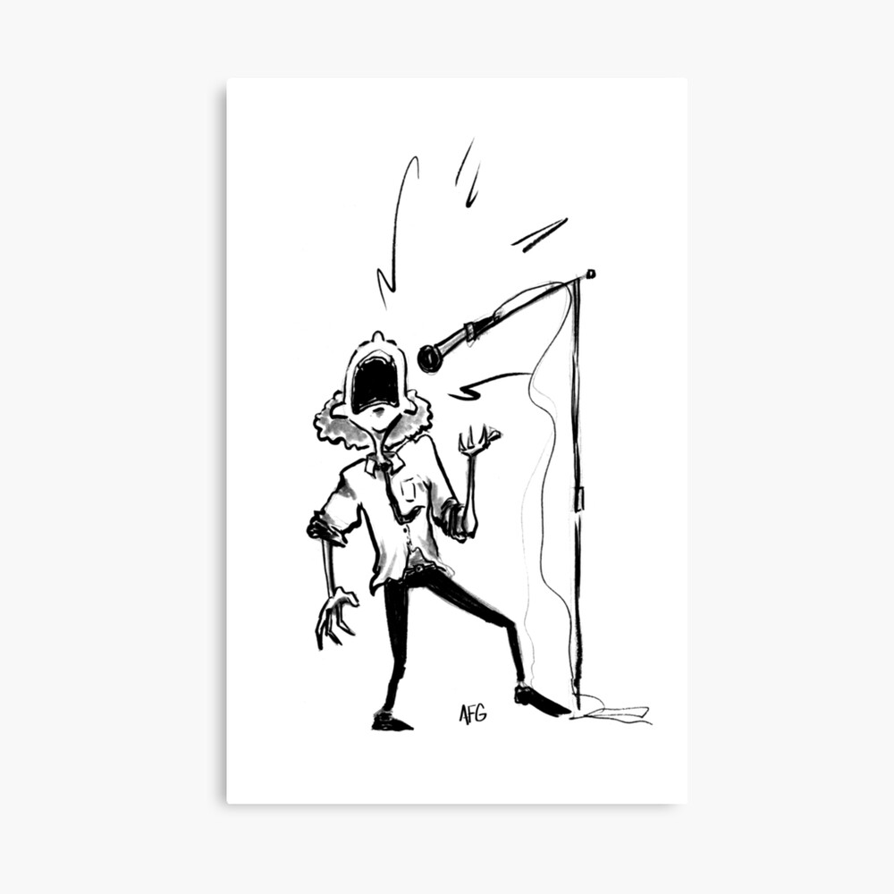 Inktober 2016 Day 22 - Singer Canvas Print