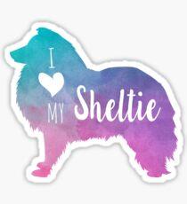 I love my Sheltie Sticker