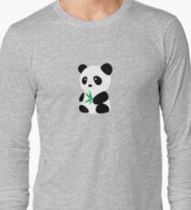 Panda with bamboo Long Sleeve T-Shirt
