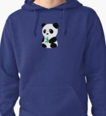Panda with bamboo Pullover Hoodie