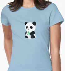 Panda with bamboo Women's Fitted T-Shirt