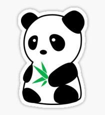 Panda with bamboo Sticker