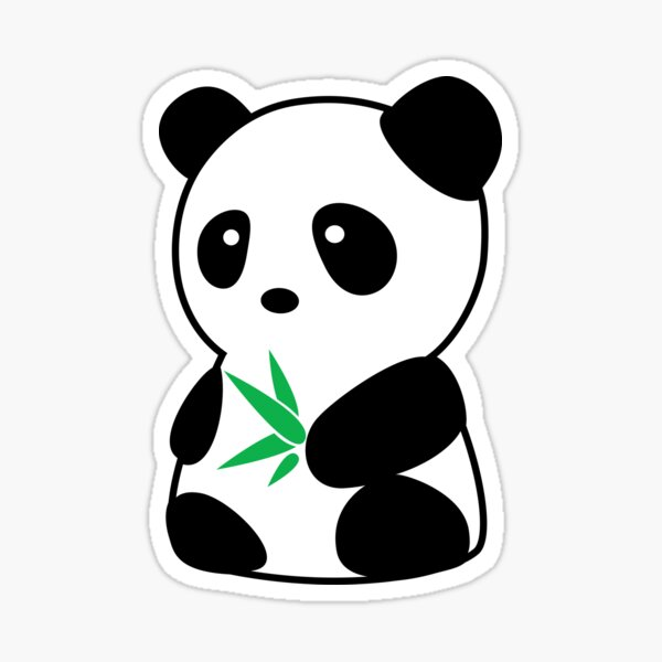 Panda with bamboo Sticker