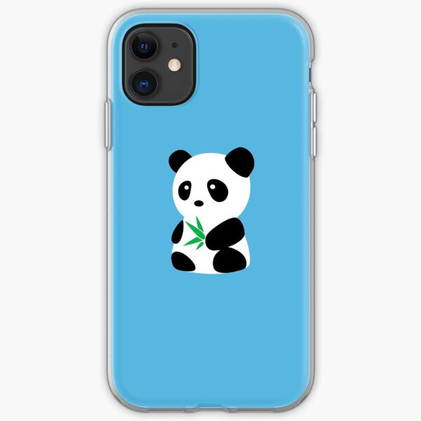 Panda with bamboo iPhone Soft Case