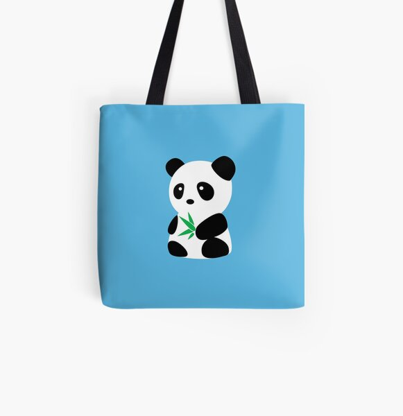 Panda with bamboo All Over Print Tote Bag
