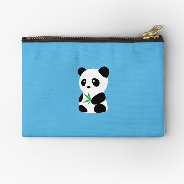 Panda with bamboo Zipper Pouch