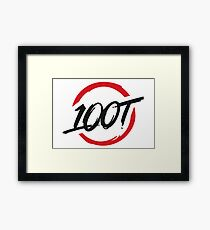 100 Thieves New Red and Black Framed Print