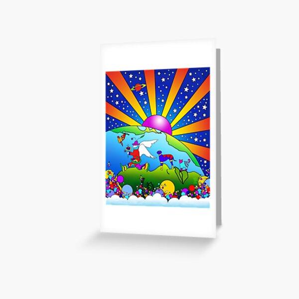 Cosmic Pet World Greeting Card