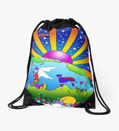 Cosmic Pet World Drawstring Bag