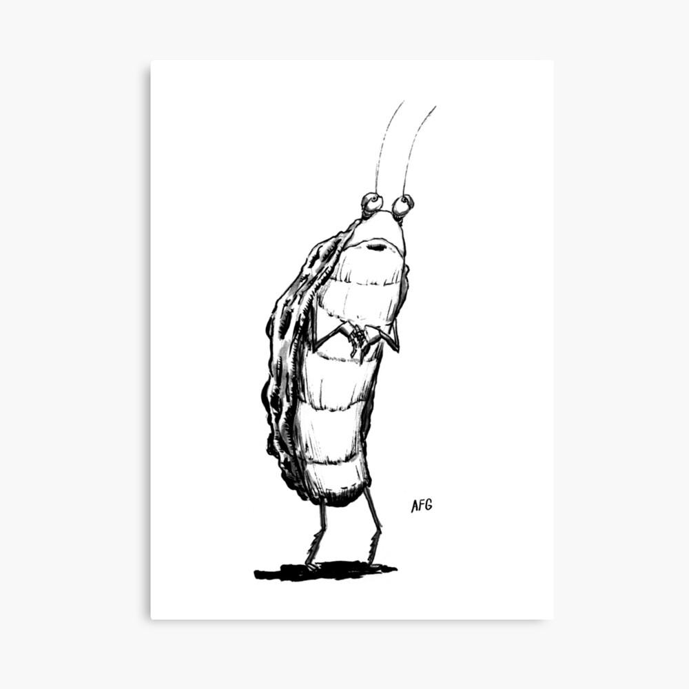 Inktober 2016 Day 25 - Standing Bug Canvas Print