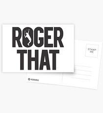 Roger That - Roger Federer Legend Postcards