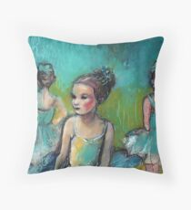 Three Ballerinas Throw Pillow