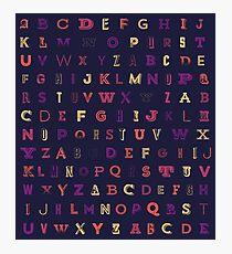 Colorful Alphabet Photographic Print