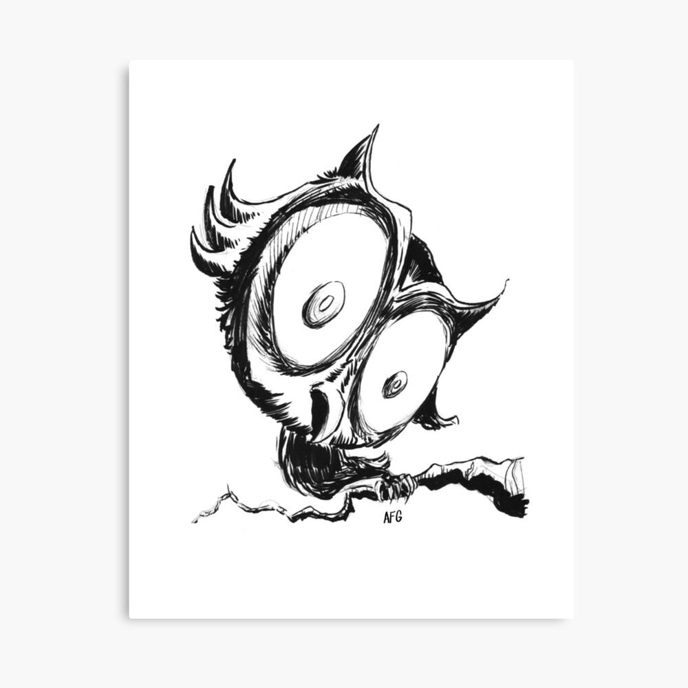 Inktober 2016 Day 29 - Owl Canvas Print