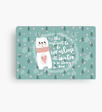 Lazy Quote Canvas Print