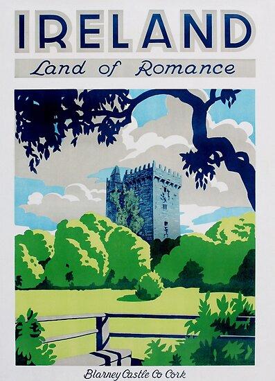 Weinlese-Irland-Reise-Plakat von AllVintageArt