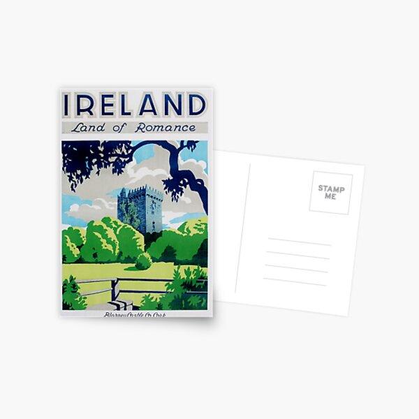 Vintage Ireland Travel Poster Postcard