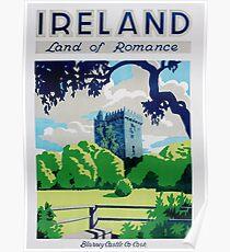 Weinlese-Irland-Reise-Plakat Poster