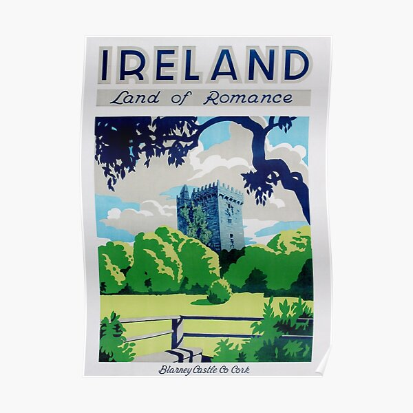 Vintage Ireland Travel Poster Poster