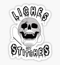 liches get stitches Sticker