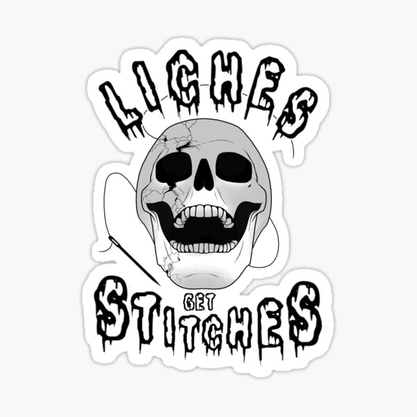 liches get stitches Sticker