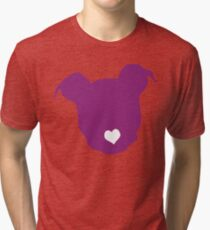 Purple Dog Tri-blend T-Shirt