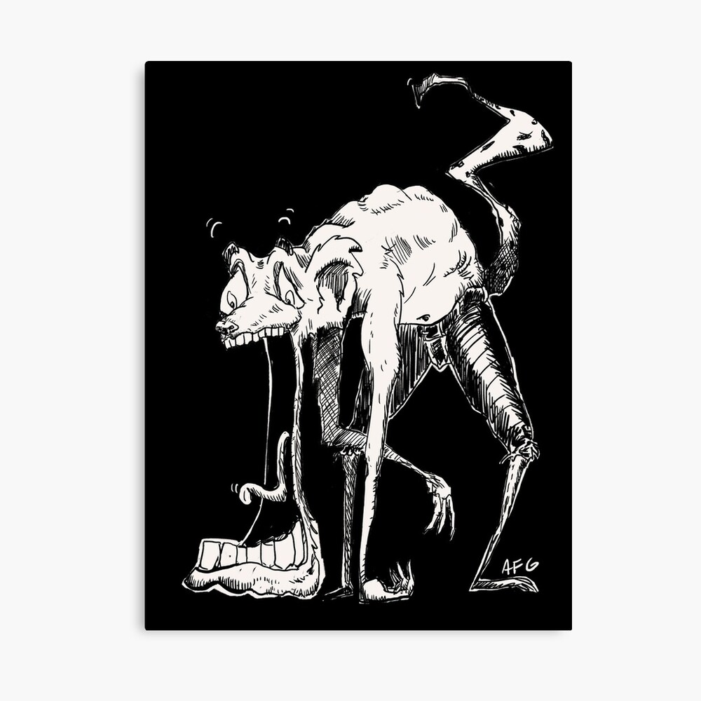 Inktober 2017 Day 03 - Jaw Drop Canvas Print