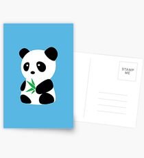 Panda with bamboo Postcards