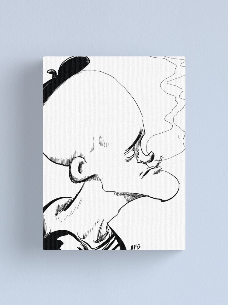 Alternate view of Inktober 2017 Day 04 - French Smoker Canvas Print