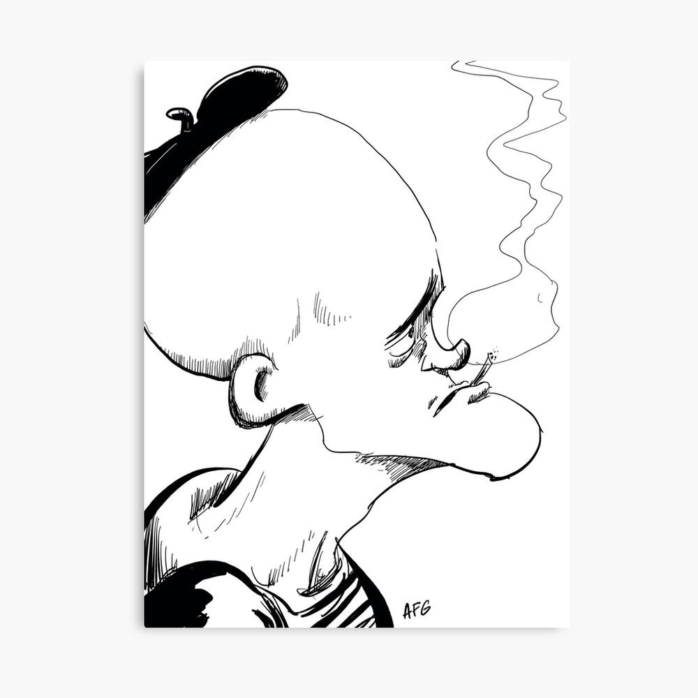 Inktober 2017 Day 04 - French Smoker Canvas Print