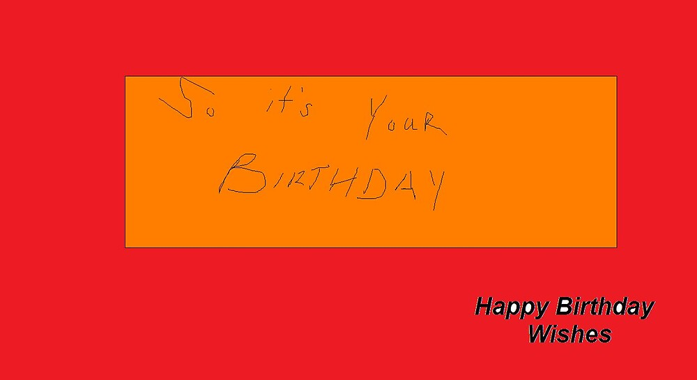 Plain Birthday Card by JAMES ANDREW BANNERMAN