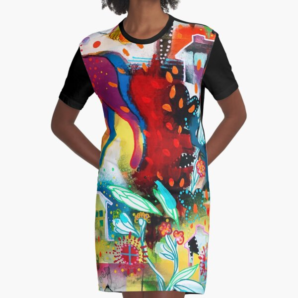 the nordic summer night Graphic T-Shirt Dress