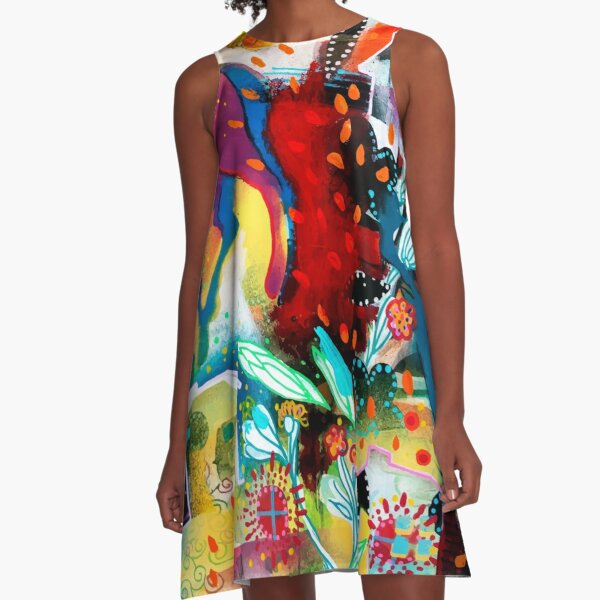 the nordic summer night A-Line Dress