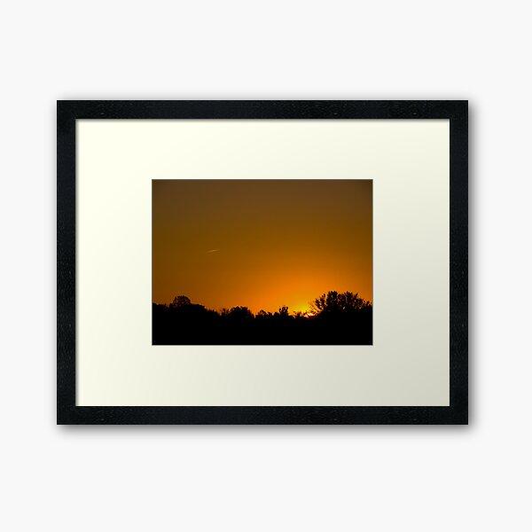 Sunny Skies Airliner Framed Art Print